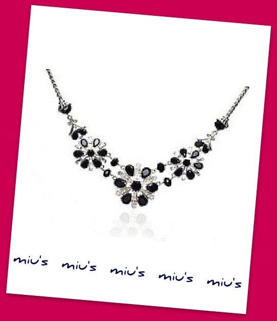Gorgeous Black Color Snowflakes Rhinestone 45cm Necklace (zz.110)