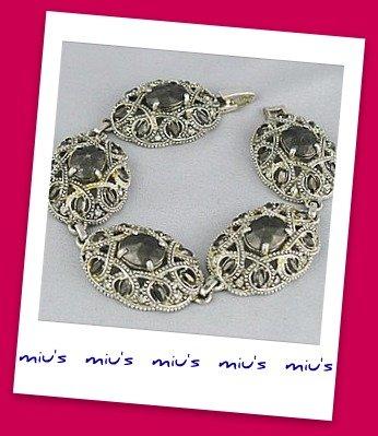 Classic Stunning Rhinestone 19.5cm Clasp Bracelet (zz.26)