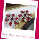 Gorgeous Red Color Snowflakes Rhinestone 2.7cm Stud Earrings (zz.109)