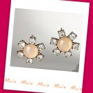 Floral Design with Rhinestone Simplicity 1.9cm Stud Earrings (zz.121)