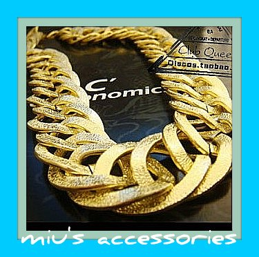 Miu's Exaggerate Antique Style Golden Chain Long Necklace (mis.1)