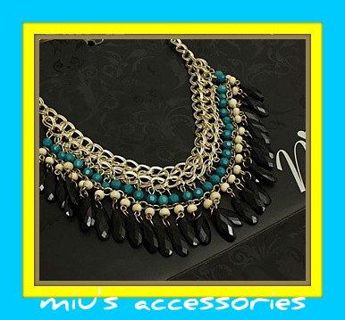Miu's Ethnic Trends Fringe 50cm Collar Necklace (mis.4)