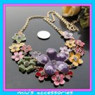 Miu's Stunning Colorful Flower 53cm Collar Necklace (mis.8)