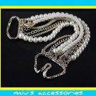Miu's Fashionable  Faux Pearl Multi Strand Bracelet (mis.12)