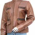 Brown Vintage Leather Jacket Women's - Dulce