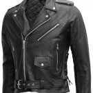 """Arnold"" Biker Terminator Leather Jacket"