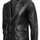 Tom Cruise Black Mission Impossible Leather Blazer