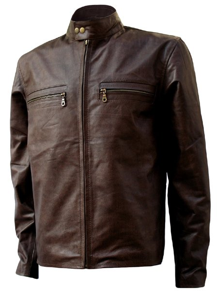 Dark Brown Biker Tom Cruise Leather Jacket