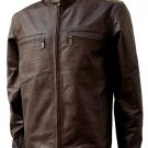 Dark Brown Biker Tom Cruise Leather Jacket