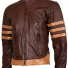 Wolverine Origins Biker Brown Vintage X-Men Leather Jacket