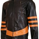 Origins Biker Style Brown X-MEN Wolverine Jacket