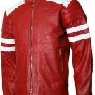 FC Tyler Durden Brad Pitt Red Fight Club Leather Jacket