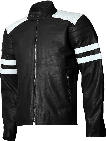 Fight Club FC Tyler Durden Black Brad Pitt Leather Jacket