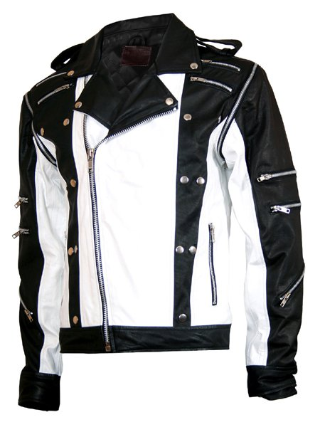 MJ Pepsi Black & White Michael Jackson Leather Jacket