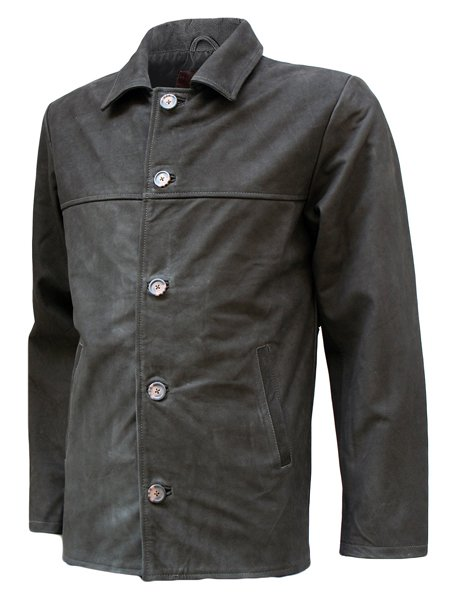 Vintage Look Nubuck Leather Blazer Mens - Sabre