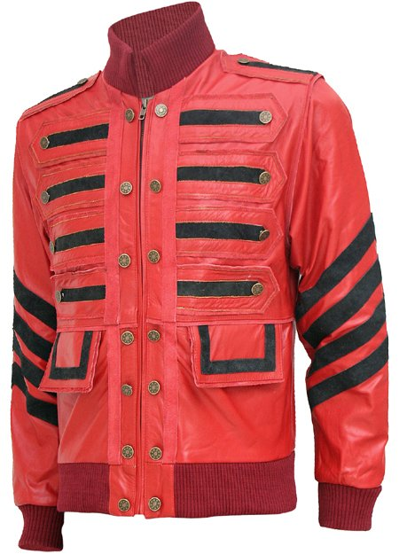 Men Maroon Bomber Military Leather Jacket - Celeste