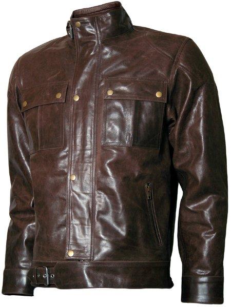 1970's Fashion Men Vintage Leather Jacket - Voltimand