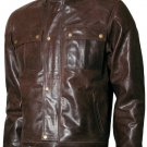 1970's Fashion Men Vintage Leather Jacket - Voltimand