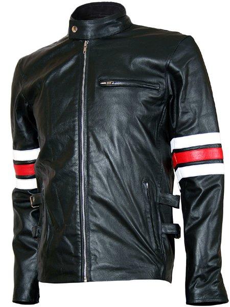 Biker Style Men's Black Leather Jacket - Lauren