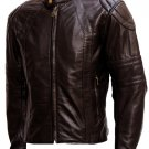 Men's Super Soft Brown Leather Jacket - Lee