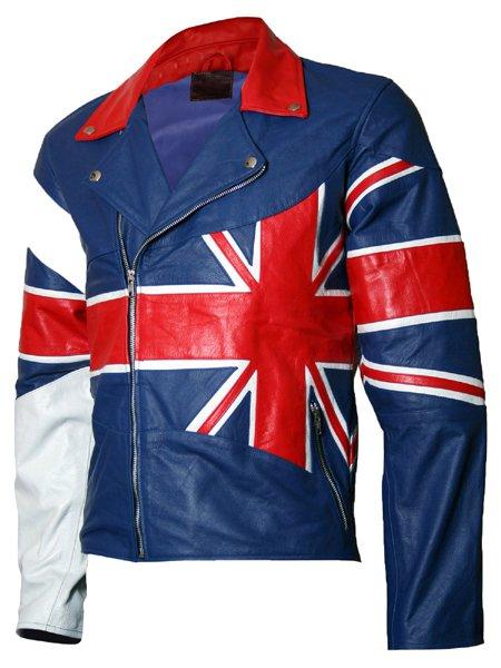 Union Jack Flag Leather Jacket for Men - Ramsey