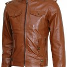 Winterwear Men Tan Leather Jacket - Browne