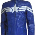The Winter Soldier Blue Captain America Leather Jacket