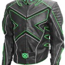 Wolverine Fashion Black & Green X-Men Leather Jacket
