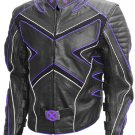 X-Men Wolverine Black & Purple Hugh Jackman Leather Jacket