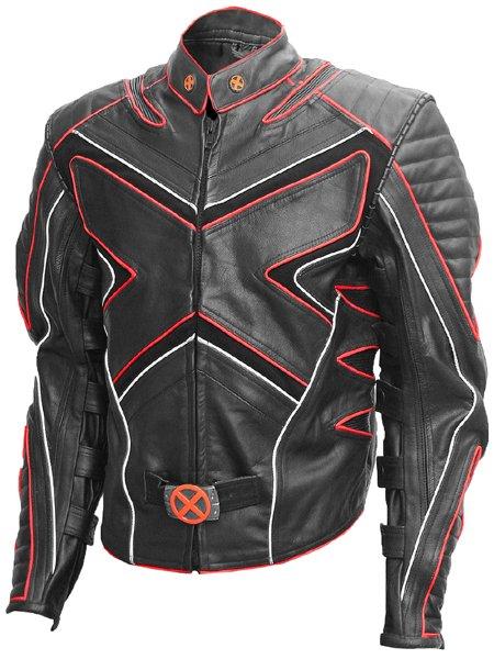 X-Men Black & Red Fashion Wolverine Leather Jacket