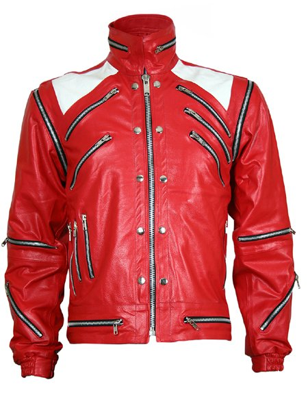 MJ Beat It Red Michael Jackson Leather Jacket