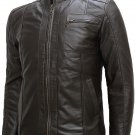 Soft Men Dark Brown Leather Jacket - Sylvain