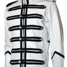 Military Style Men White Motorcycle Jacket - Unni