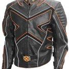 X-Men Black & Orange Fashion Wolverine Leather Jacket