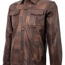 Summer Jacket - Brown Leather Shirt