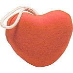 Terry Cloth Red Heart Sponge Red