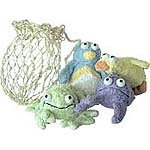 Terry Bath Critters In Sisal Bag