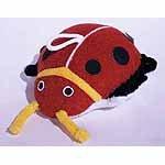 Terry Cloth Ladybug Sponge