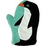 Children's Bath Mitt- Penguin