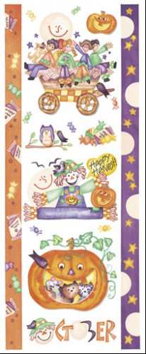 October Scrapbook Sticker Sheet