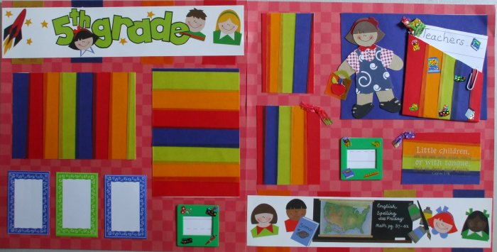 5th grade 12x12 Pre-Made Scrapbook Pages
