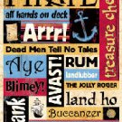 Pirate Words Scrapbook sticker sheet by Sandylion