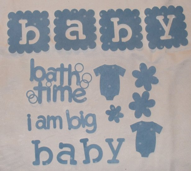Baby Bath Time Page Embellsihments