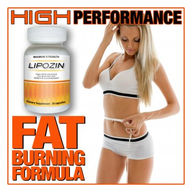 Fat Burner LIPOZIN BEST Diet Pill HARDCORE Weight Loss Hoodia - Rated #1 of 2013
