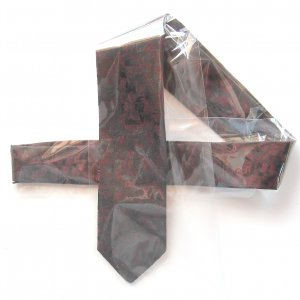 Puritan Vintage Black Red Burgundy mens necktie tie