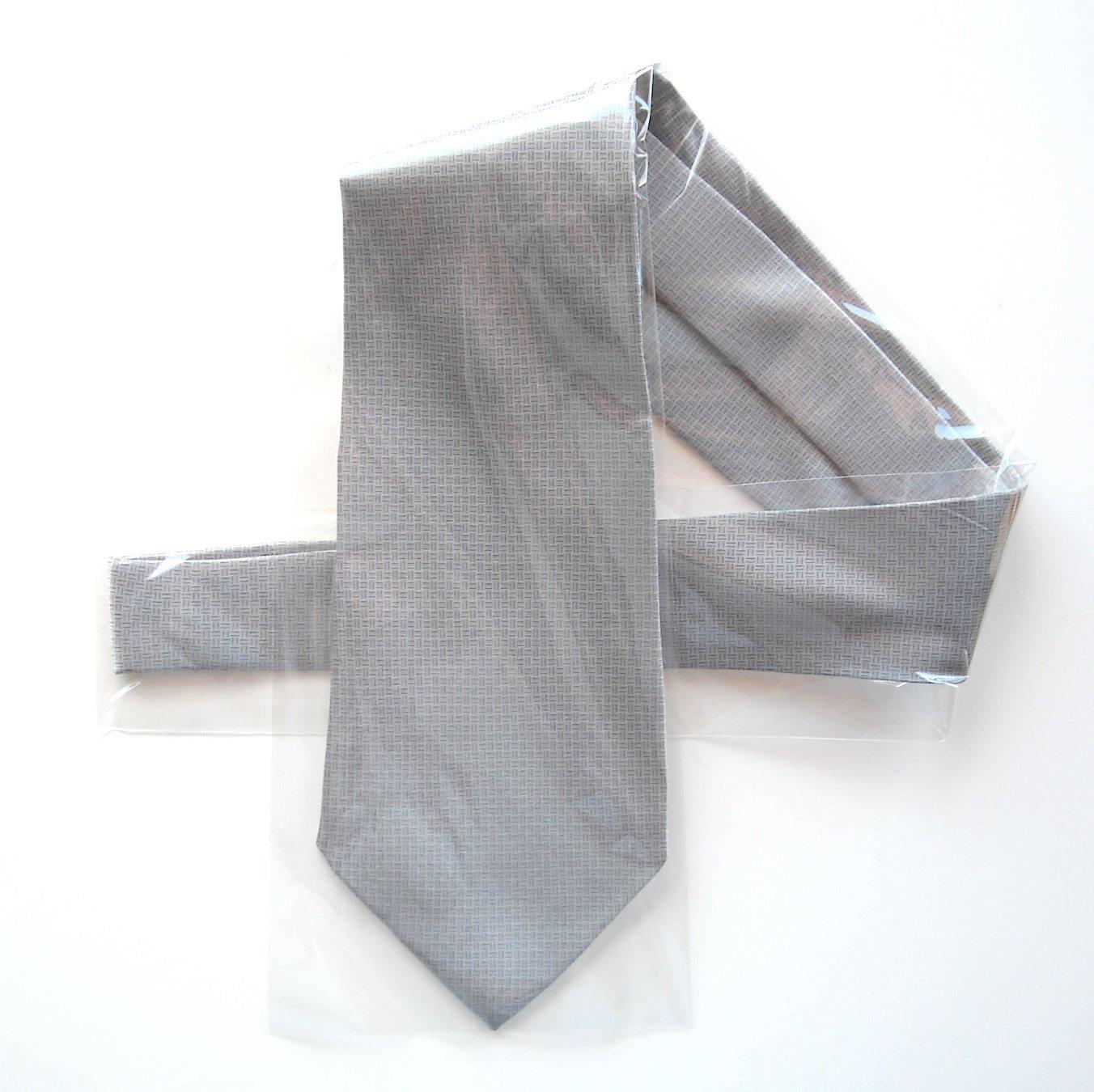 Zylos Gold Silver Gray mens Silk necktie tie