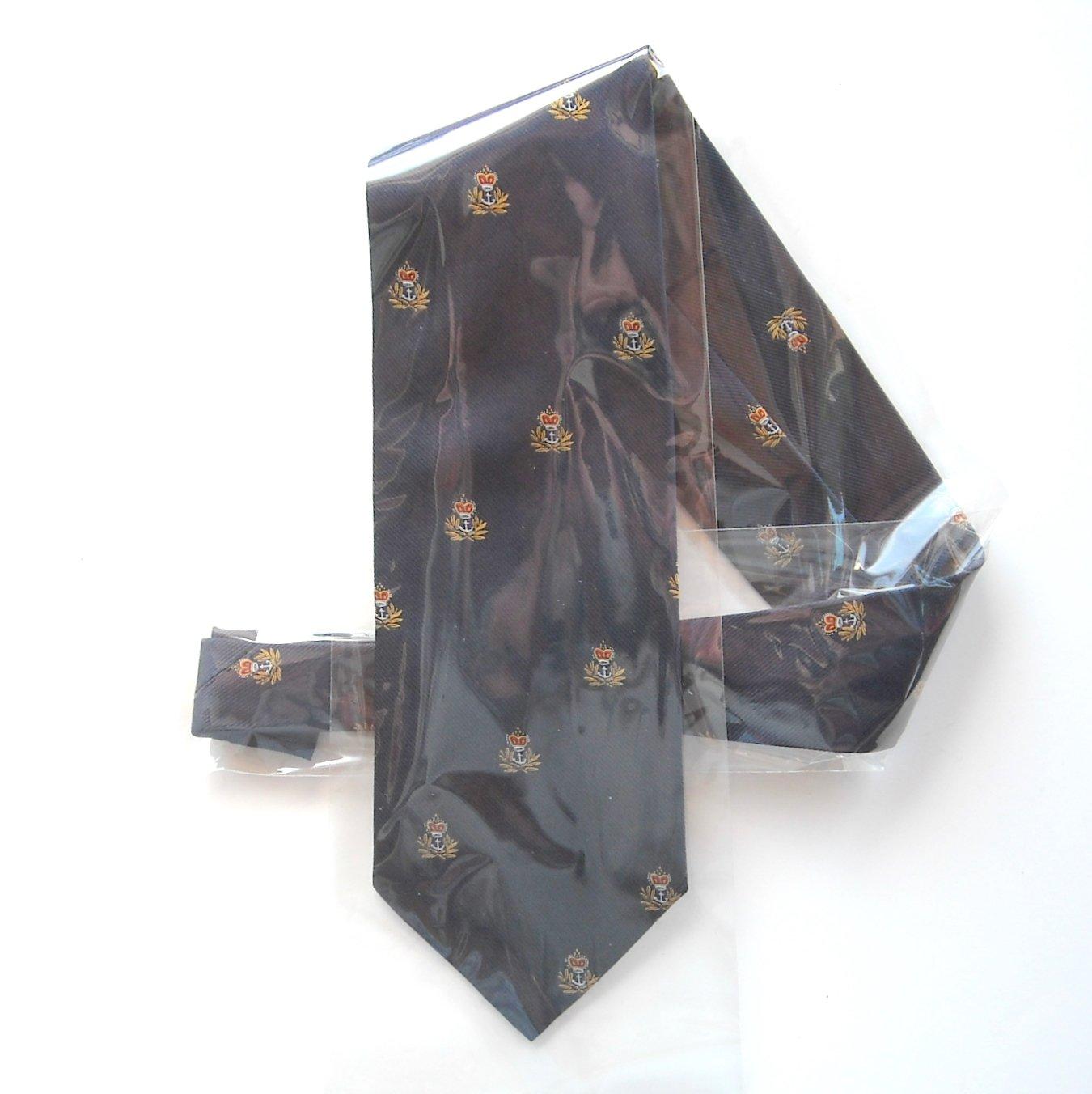 Empire Accessories Navy Blue Mens Silk Necktie Tie