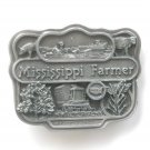 Bryant Inc 3D Mississippi Farmer Commemorative Pewter Belt Buckle