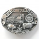 Bryant Inc 3D Ohio Farmer Commemorative pewter metal alloy belt buckle