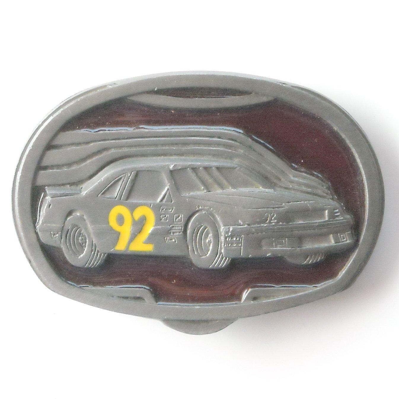 Race Car 92 C+J 1992 Nascar C&J Inc pewter alloy belt buckle #2